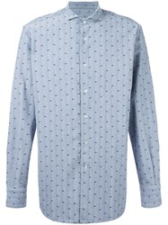 Roda Patterned Shirt Blue