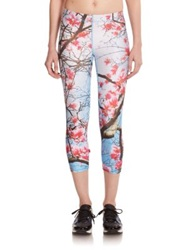 Zara Terez Printed Cropped Performance Leggings Cherry Blossom