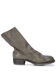 Guidi Back Zipped Boots Grey