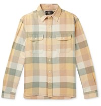 Rrl Checked Cotton Shirt Yellow