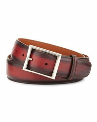 Berluti Venezia Leather Belt Red