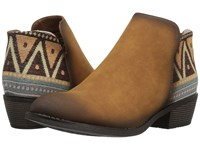 Roper Angel Fire Tan Faux Leather Cowboy Boots