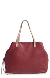 Sole Society Faux Leather Tote Red Oxblood