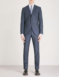 Tiger Of Sweden Jil 8 Slim Fit Wool Linen And Silk Blend Suit Blue