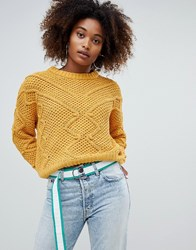 31015446d Save. Pull And Bear Pullandbear Pom Pom Detail Jumper Yellow