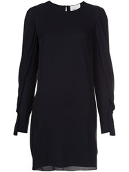 3.1 Phillip Lim Draped Sleeve Dress Black