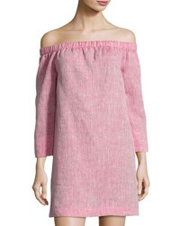 Lafayette 148 New York Off The Shoulder Linen Tunic Red