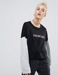 The Ragged Priest Everything Sucks Long Sleeve T Shirt Multi