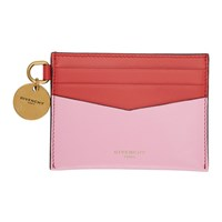 Givenchy Pink And Red Edge Card Holder