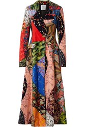 Rosie Assoulin Printed Cotton Velvet Coat Red