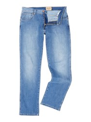 Wrangler Men's Texas Tapered Fit Light Wash Jeans Denim Light Wash