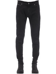 Represent Repaired Cotton Blend Denim Jeans Black