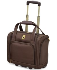 London Fog Knightsbridge 15 Under Seat Tote Available In Brown And Grey Glen Plaid Macy's Exclusive Colors Chocolate