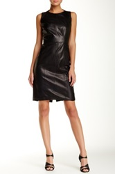 Hugo Boss Leather Dress Black