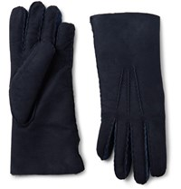 Paul Smith Sith Shearling Gloves Idnight Blue Midnight Blue
