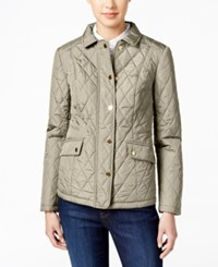 Charter Club Petite Quilted Coat Only At Macy's Sand