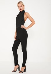 Missguided Black Cowl Neck Jumpsuit