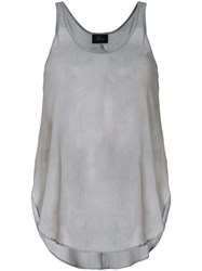 Lost And Found Ria Dunn Curved Hem Tank Top Grey