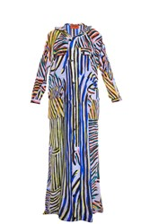 Missoni Stripe Print Silk Trench Multi