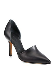 Vince Claire Choked Up Leather D'orsay Pumps Black