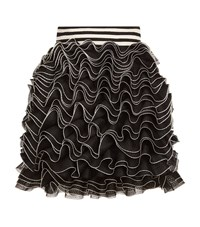Alexander Mcqueen Ruffle Mini Skirt Female Black