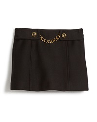 Milly Minis Bonded Wool Chain Mini Skirt Black Size 8 14
