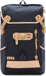 Master Piece Co Navy Canvas And Leather Surpass Cargo Rucksack