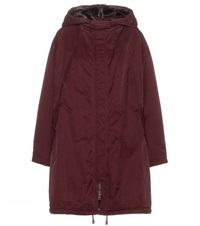 Acne Studios Amory Fur Trimmed Parka Red
