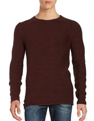 Selected Joecamp Crewneck Pullover Rum Raisin