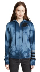 Freecity Clouds And Stripes Zip Up Hoodie Bluepaint