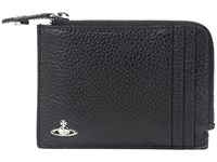 Vivienne Westwood Milano Zip Credit Card Holder Black Wallet Handbags