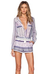 Twelfth St. By Cynthia Vincent Romper Blue