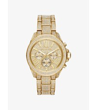 Wren Pave Gold Tone Watch
