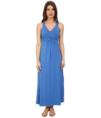 Mod O Doc Cotton Modal Jersey Braided Trim Maxi Dress Lapis Women's Dress Navy