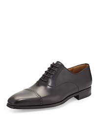 Magnanni Wolden Perforated Lace Up Dress Shoe Black