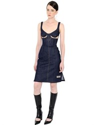 J.W.Anderson Cutout Stretch Denim Bustier Dress