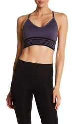 Columbia Long Banded Adjustable Cami Sports Bra Gray