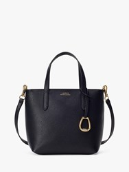 Ralph Lauren Merrimack Small Tote Bag Black Taupe