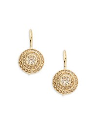 Lauren Ralph Lauren Topaz Crystal Drop Earrings Gold