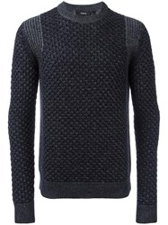 Theory 'Cellan C' Cable Knit Jumper Blue
