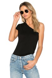 Enza Costa One Shoulder Top Black