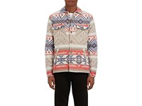 Faherty Men's Folkloric Padded Brushed Cotton Shirt Jacket Grey Blue Red No Color