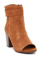 Kenneth Cole Reaction Frida Cool Peep Toe Bootie Brown