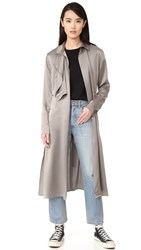Blk Dnm Coat 50 Satin Trench Taupe