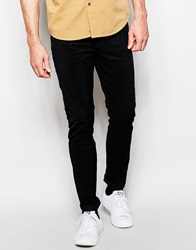 Cheap Monday Cord Trousers Tight Skinny Fit Tribe Black Blackcord