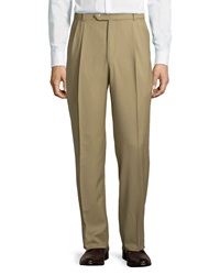 Neiman Marcus Pleated Wool Pants 32