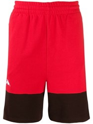 Kappa Contrast Panel Shorts Red