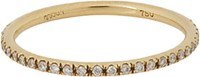 Ileana Makri Women's Diamond And Gold Eternity Band No Color