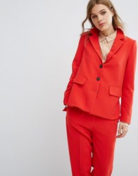 Selected Suit Blazer Co Ord Flame Scarlet Red