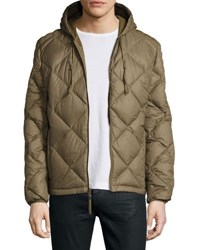 Marc New York Appleton Quilted Puffer Hooded Jacket Grove Oliv